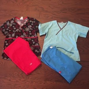 Other - Scrubs Lot 2 Sets Small Fitted Designer Scrubs
